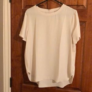 Cream Ann Taylor Loft blouse, new.
